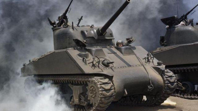 Un tanque de la Segunda Guerra