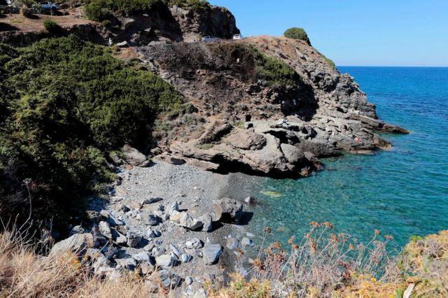 The creek where the brawl erupted near Sisco, Corsica, 14 August