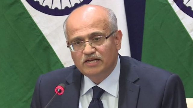 El secretario de Relaciones Exteriores de India, Vijay Gokhale