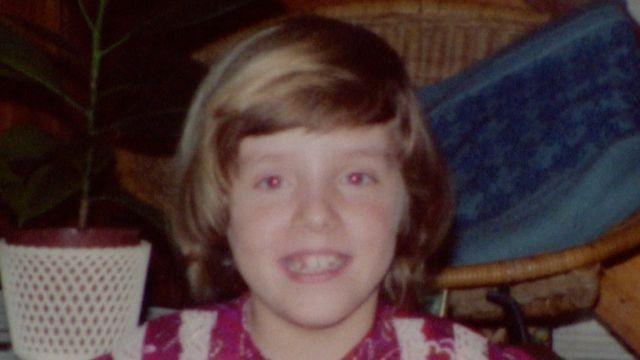 Sara Gillingham durante a infância