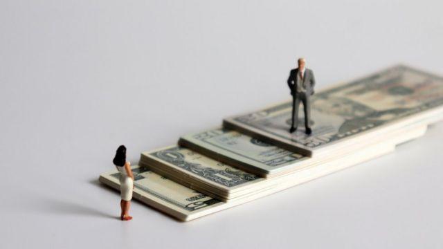 Escala de dólares entre homem e mulher