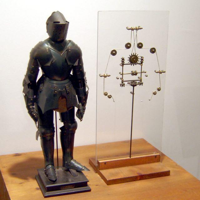 Recreación robot de Leonardo.