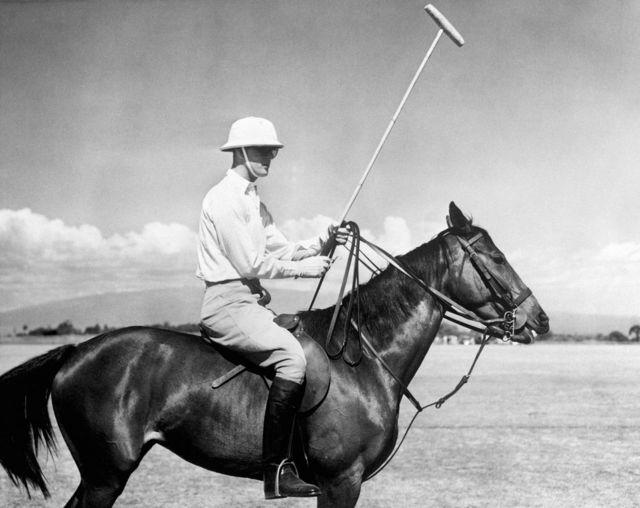 Prince Philip playing polo