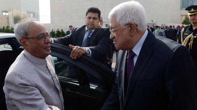 प्रणब मुखर्जी फ़लस्तीन जाने वाले भारत के पहले राष्ट्रपति हैं