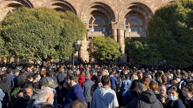Demonstration in Yerevan calling for the resignation of the Prime Minister of Armenia.
