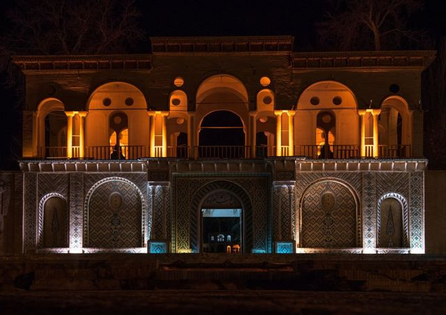 Bagh-e Shazdeh (Taman Pangeran) di dekat Kerman, Iran.