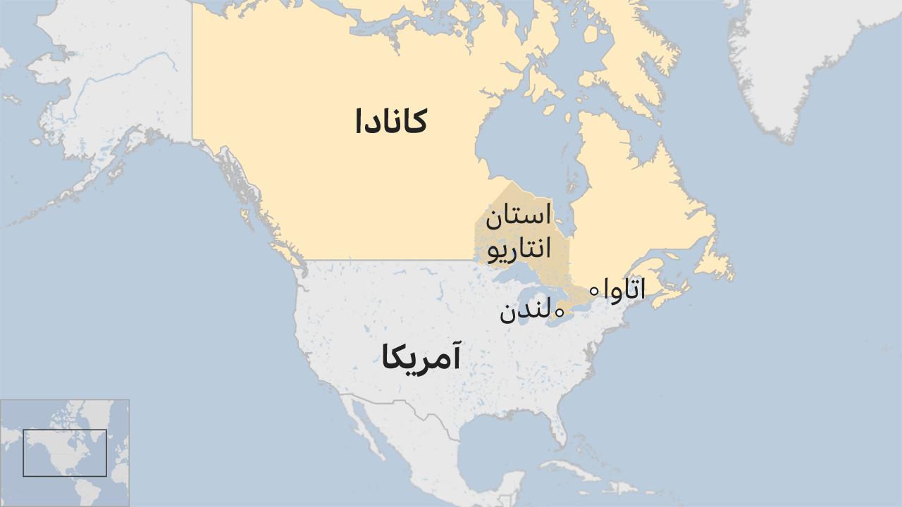 نقشه لندن در کانادا