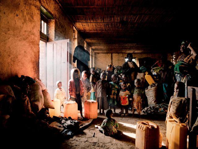 Enfants déplacés dans le territoire de Djugu, province d'Ituri.
