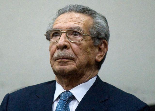 Efraín Ríos Montt, quien quien gobernó el país de facto entre 1982 y 1983, en un juicio en su contra el 11 de enero de 2013.