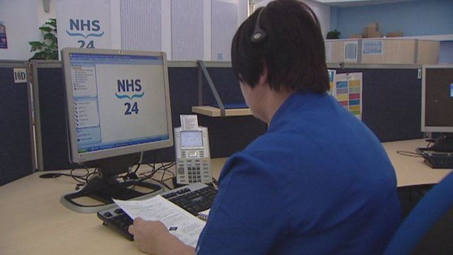 NHS 24 call handling system