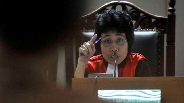 Albertina Ho ketika masih menjadi hakim Pengadilan Tipikor. Namanya disebut Presiden Jokowi sebagai calon anggota Dewan Pengawas KPK.