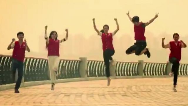"""Still from the song """"This is China"""""""