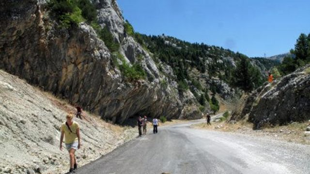 Rocas en las montañas Taurus en Turquía