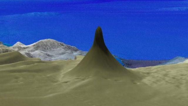 Трехмерное изображение огромного рифа, стоящего отдельно от Большого барьерного рифа.