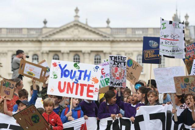 Manifestantes en Cambridge