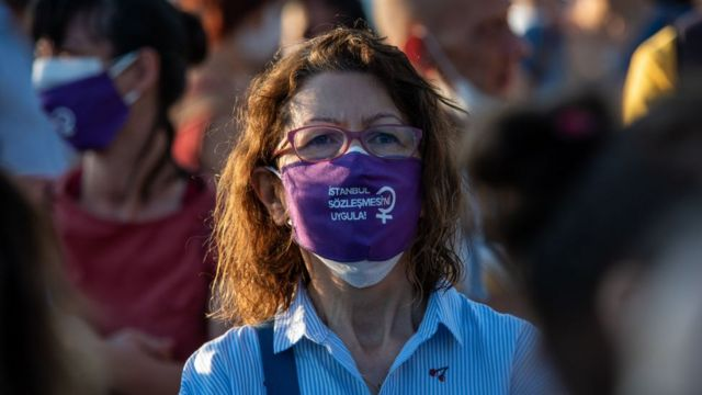 protestodan bir kare