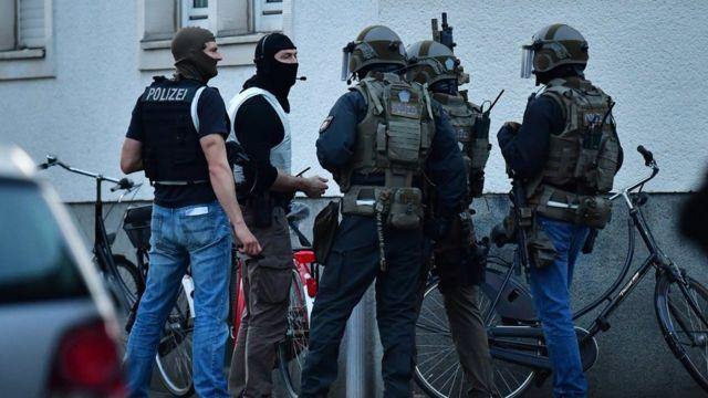 полицейские в Мюнстере