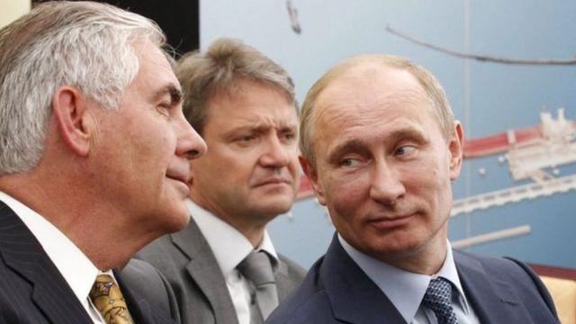 بوتين وريكس تيلرسون