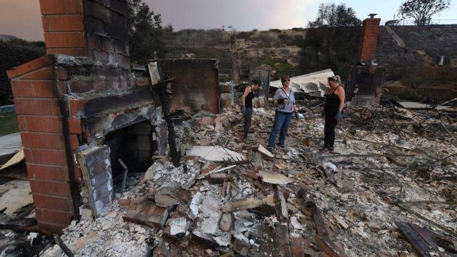 развалины дома на юге Калифорнии