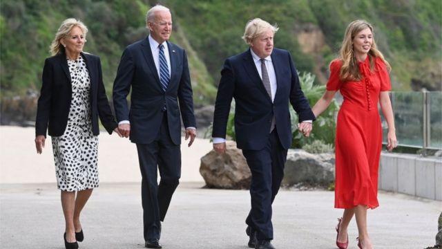 美英领导人及夫人