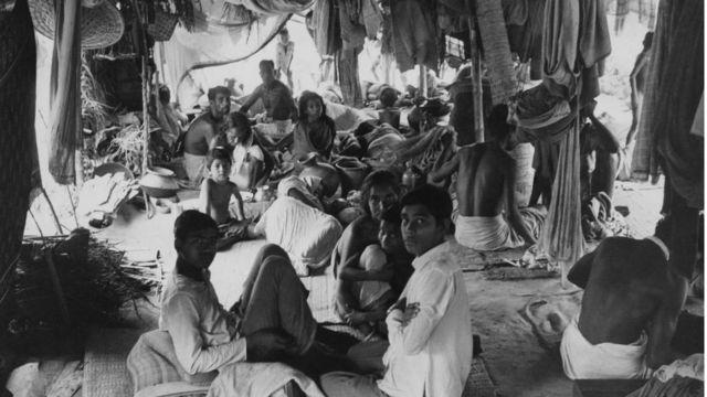 কলকাতায় একটি শরণার্থী ক্যাম্প