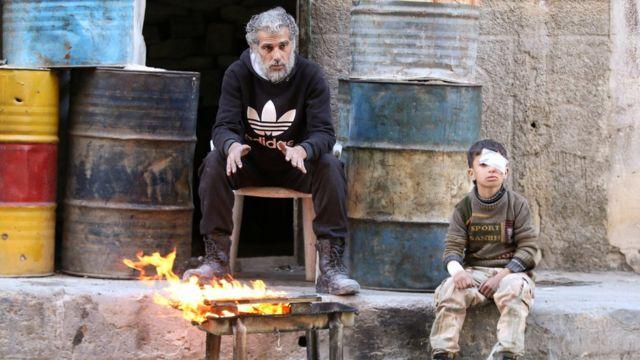 تشهد حلب دمارا كبيرا منذ اندلاع الحرب الأهلية في البلاد