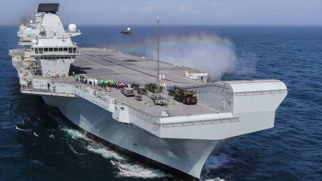HMS Queen Elizabeth: Leak forces aircraft carrier to abandon sea trials