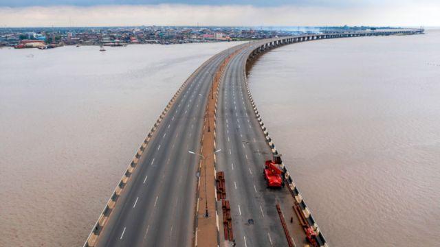 Third Mainland Bridge free of traffic, Lagos, Nigeria
