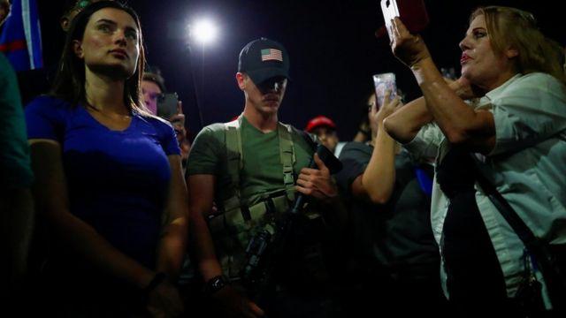 Simpatizantes de Trump protestan en Arziona
