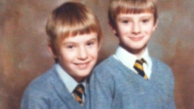 Tony Hawkins with his brother Stephen