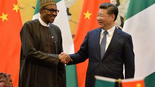 Aarẹ Xi Jinping ti orilẹ̀ede China ati Aarẹ Muhammadu Buhari ti orilẹede Naijiria
