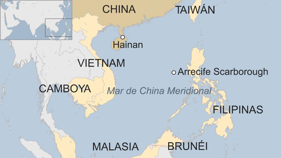 mapa China Asia.