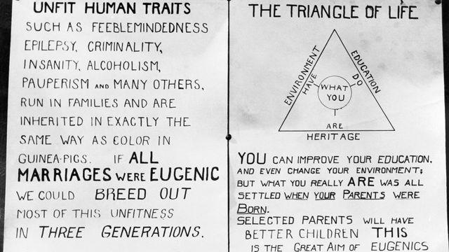 Uno de los carteles que usaba la American Eugenics Society