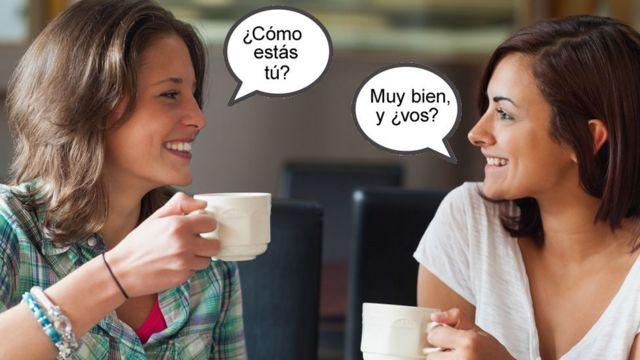 Two women speaking Spanish