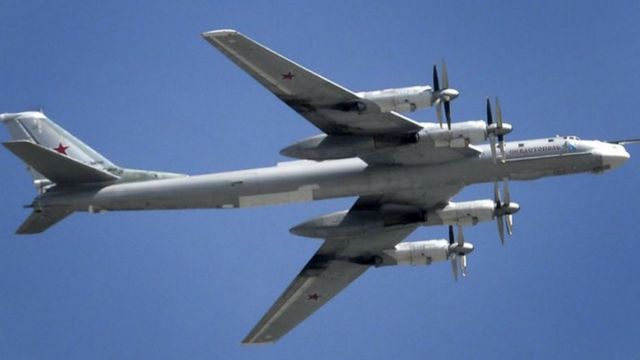 Un avion militaire Russe en plein vol