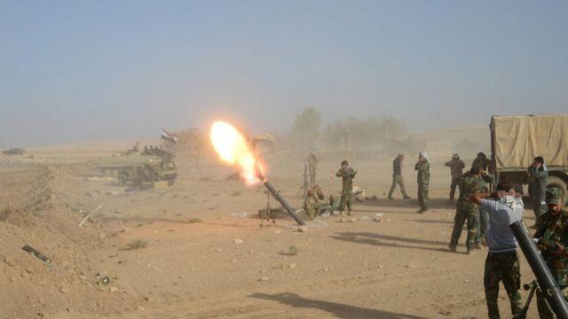 الجيش العراقي بالقرب من ا لموصل