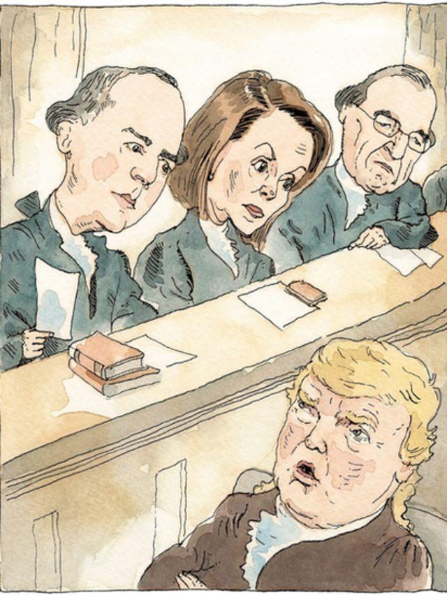 کارتون نیویورکر که جلسه خیالی استیضاح