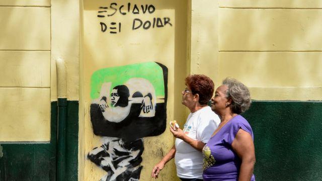 Pintura contra el dólar.