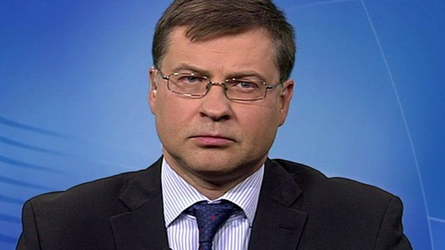 European Commission vice president for the euro and social dialogue Valdis Dombrovskis