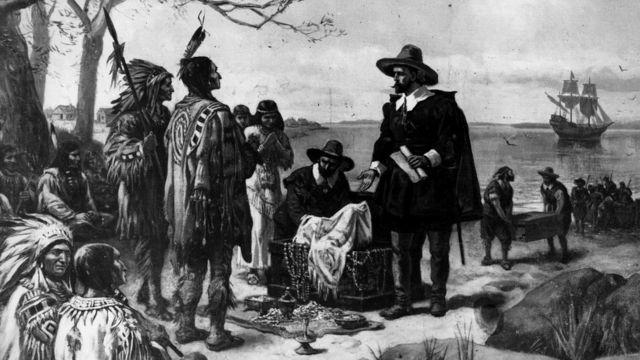 Продажа индейцами Манхэттена