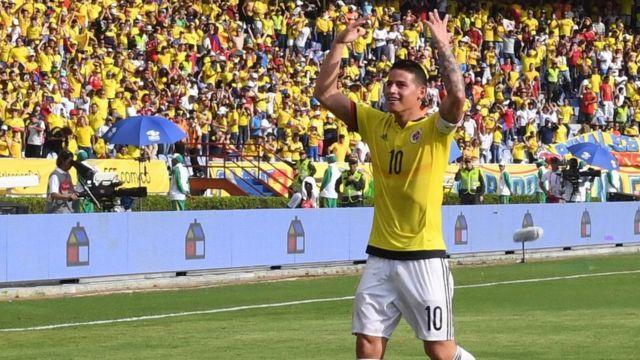 James Rodríguez celebra su gol