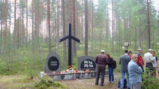 Мемориал расстрелянным грузинам