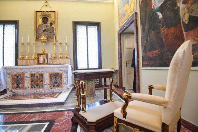 İbadət otağı Castel Gandolfo