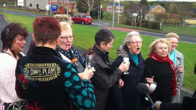 Relatives of residents at Oakridge Care Home, Ballynahinch, get ready to toast the news that the Spa Nursing Home Group is in talks to buy the home