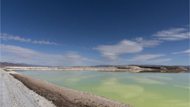 Minas de litio en Chile