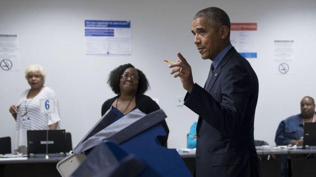 President Obama casts his ballot