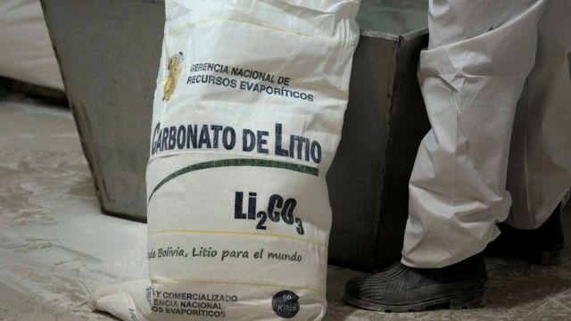 Carbonato de litio en bolsa