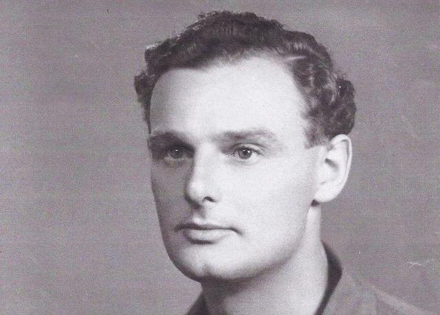 A black and white photo of Captain Peter Robert Sandham Bankes