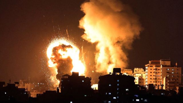 شن الجيش الإسرائيلي غارات جوية على قطاع غزة في 10 مايو/أيار 2021
