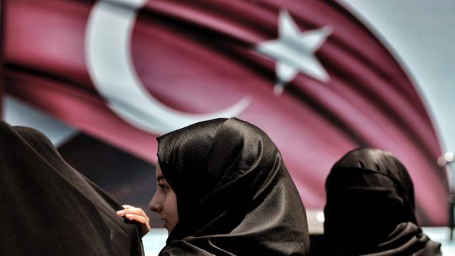 Pro-Erdogan supporters attend a demonstration